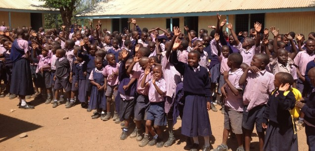 A wave and a smile from the children of Salem Ministries School