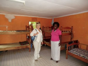 Mama  Phoebeshowing me the orphanage in 2012