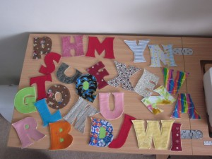 Lovely coloured letters to help the children learn thanks Maggie & June