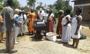 Peanut processing they are picked and roasted and processed by these wonderful ladies